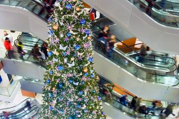 Christmas tree in a shopping mall