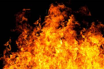 Close-up photograph of flames