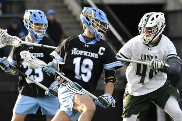 Hopkins vs. Loyola men's lacrosse