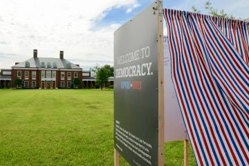 Voting booth on Decker Quad