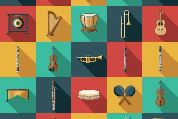 Illustration of different types of instruments