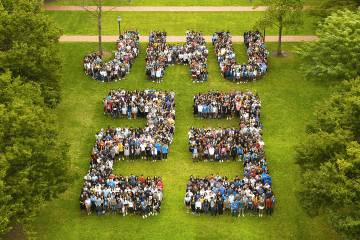 Class of 2023 arranged to spell JHU23