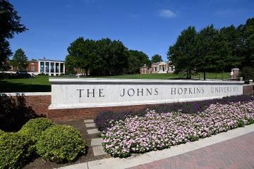 Johns Hopkins University sign