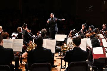 Joseph Young conducts the Peabody Symphony Orchestra
