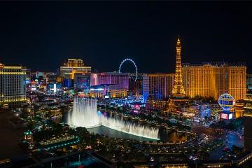 The Las Vegas Strip at night