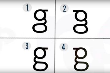 4 versions of the letter g