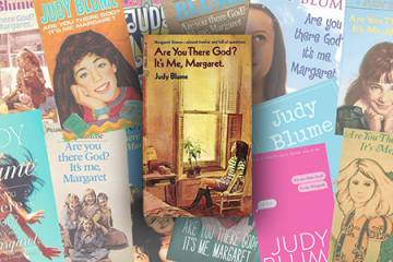 Collage of Judy Blume book covers