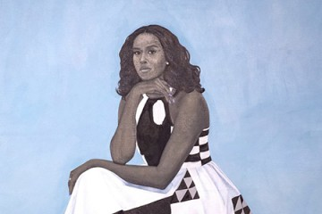 Official painted portrait of Michelle Obama