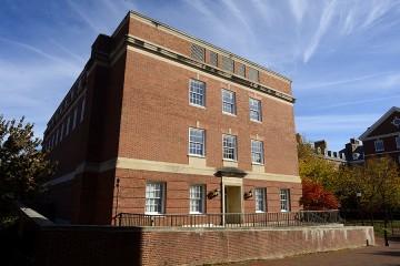 Four story brick building