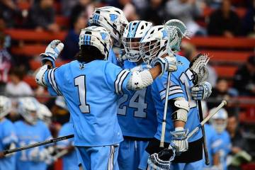 Hopkins men's lacrosse celebration