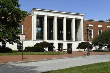 Exterior of the Milton S. Eisenhower Library