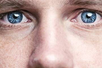 Closeup of a man's eyes