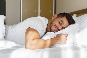 Man sleeping peacefully