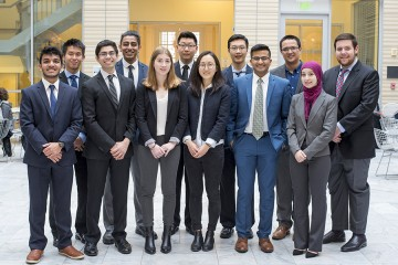 Student organizers of the Osler Medical Symposium pose for a photo