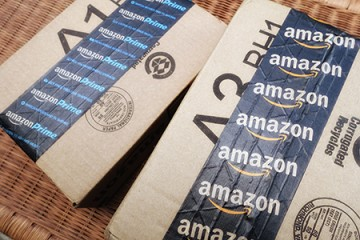 Two Amazon packages