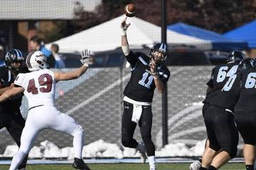 Hopkins quarterback steps up to pass
