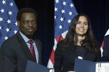 Darrell Gaskin (left) and Rebecca Schulman