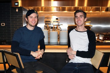 David Forster and Andrew Townson, who run PekoPeko Ramen restaurant