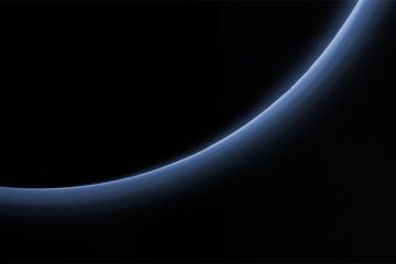 Blue haze over Pluto