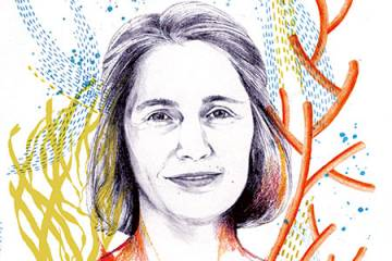 Illustrated headshot of Sarah Preheim