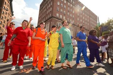 JHU participants in Baltimore's Gay Pride parade