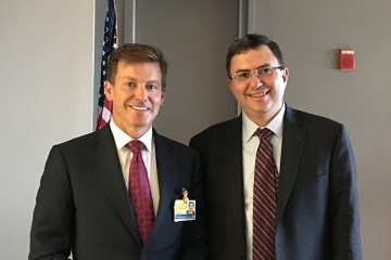 Peter Pronovost (left) and Josh Sharfstein