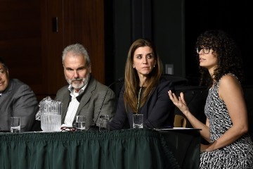 Four people on a panel