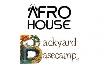 Logos for Afro House and Backyard Basecamp