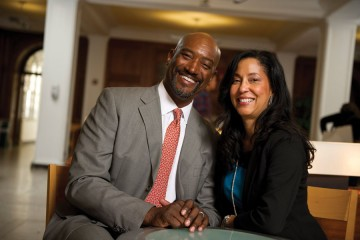 Robert Clayton (left) and his wife, Janine