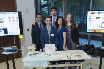 The Salient ENT team (from left to right): Amal Alfroz Alam, Scott Stanley, Demetri Monovoukas, Emily Eggert, and Elizabeth Lebling
