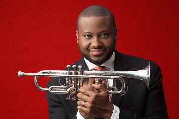 Photo of Sean Jones holding a trumpet
