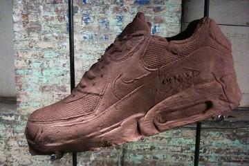 Clay sneaker in art exhibition