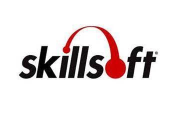 Skillsoft logo consisting of the word Skillsoft with headphones