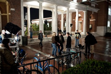 Filming of 'The Social Network' at JHU's Homewood campus