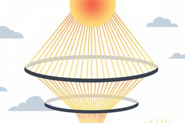 Illustration of sun energy