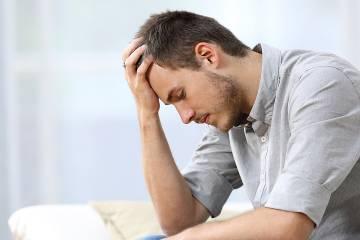 Stressed-looking man