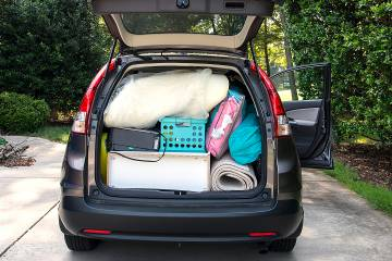 Car filled with college student's belongings