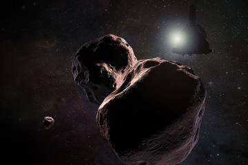 Artist's rendering of Ultima Thule object