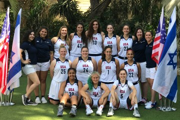 USA Open Women's Basketball Team poses for a team photo