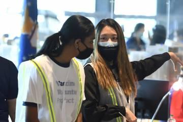 Student volunteers at M&T Bank Stadium