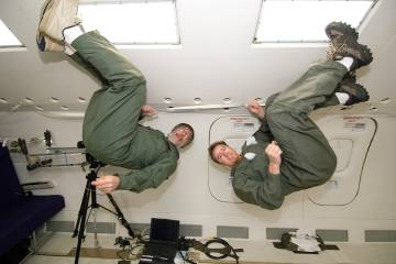 Mark Shelhamer in the zero-gravity rocket