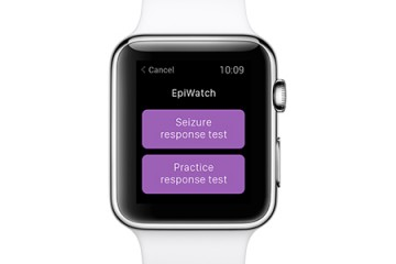 The Epiwatch app as seen on the Apple Watch