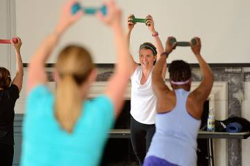 A Muscle-Toning and Conditioning class at Homewood