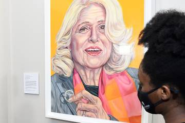 Edith Windsor portrait at Johns Hopkins