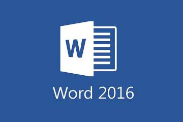 Logo for Word 2016 software