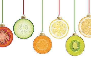 Holiday ornaments that look like fruit slices