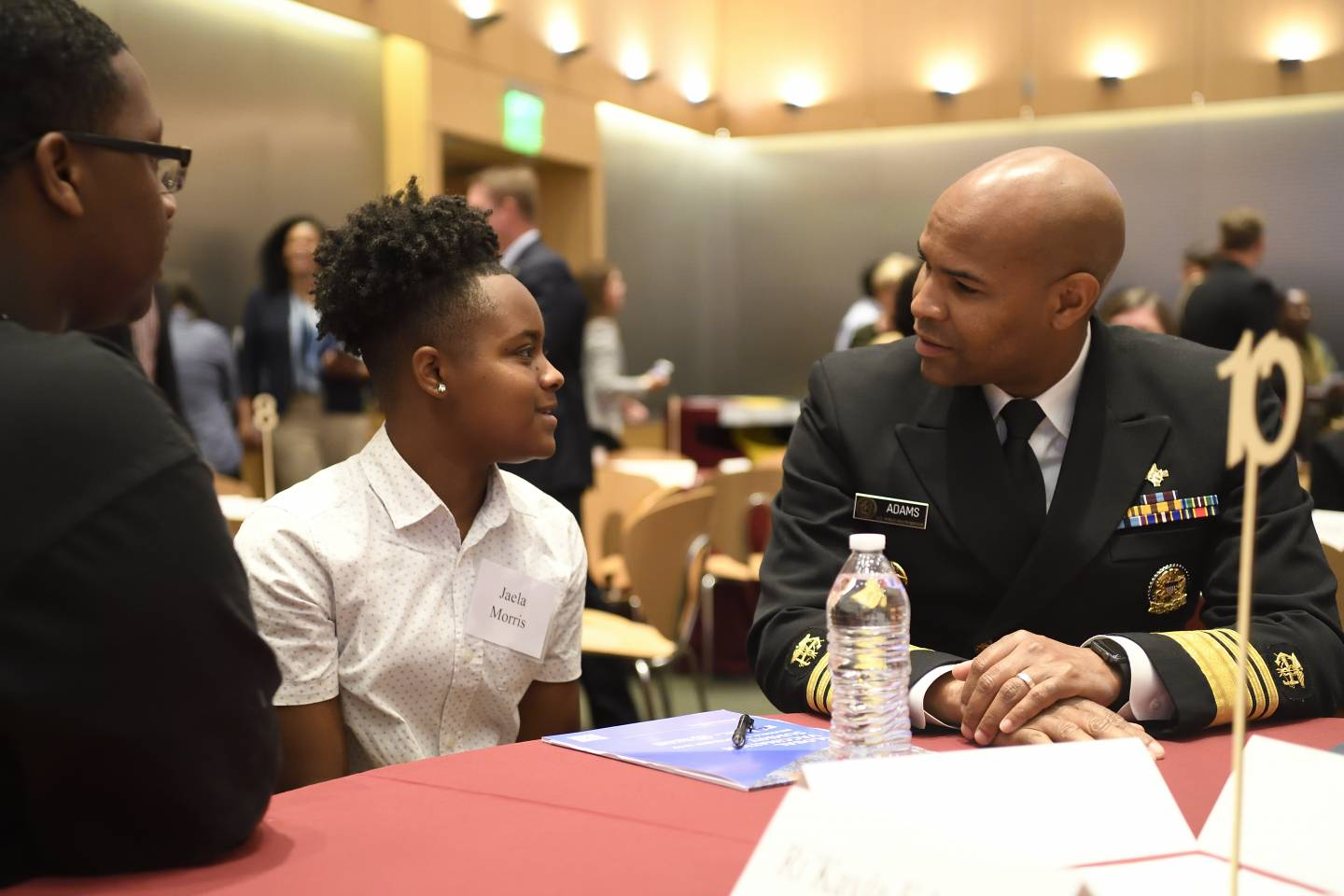 Surgeon General speaks with students