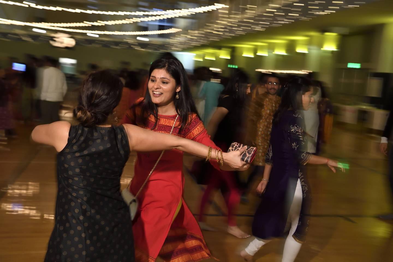 Student dancers celebrate Diwali