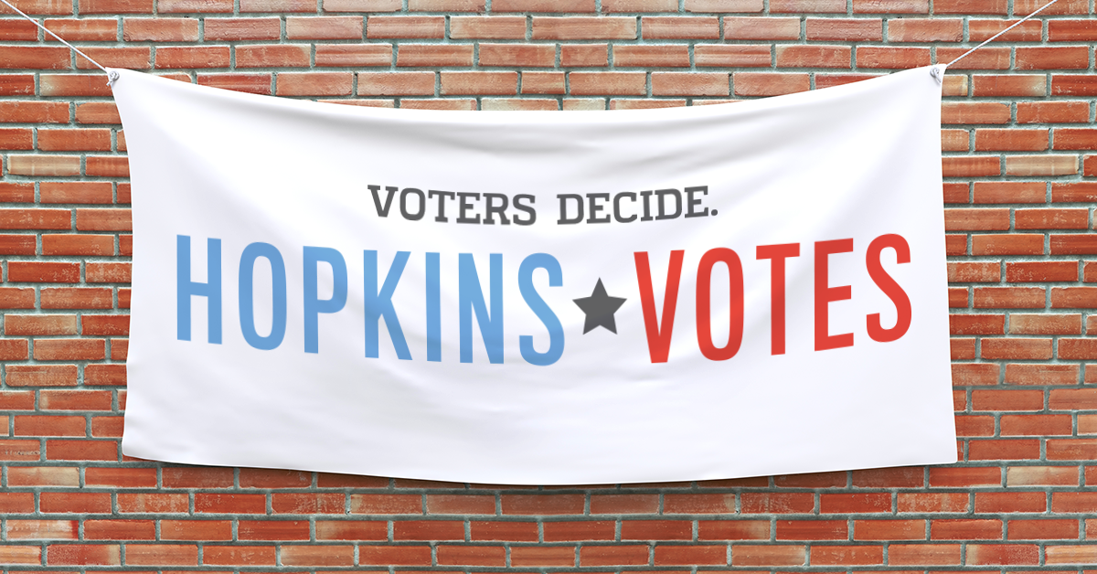 Hopkins Votes Brick Wall