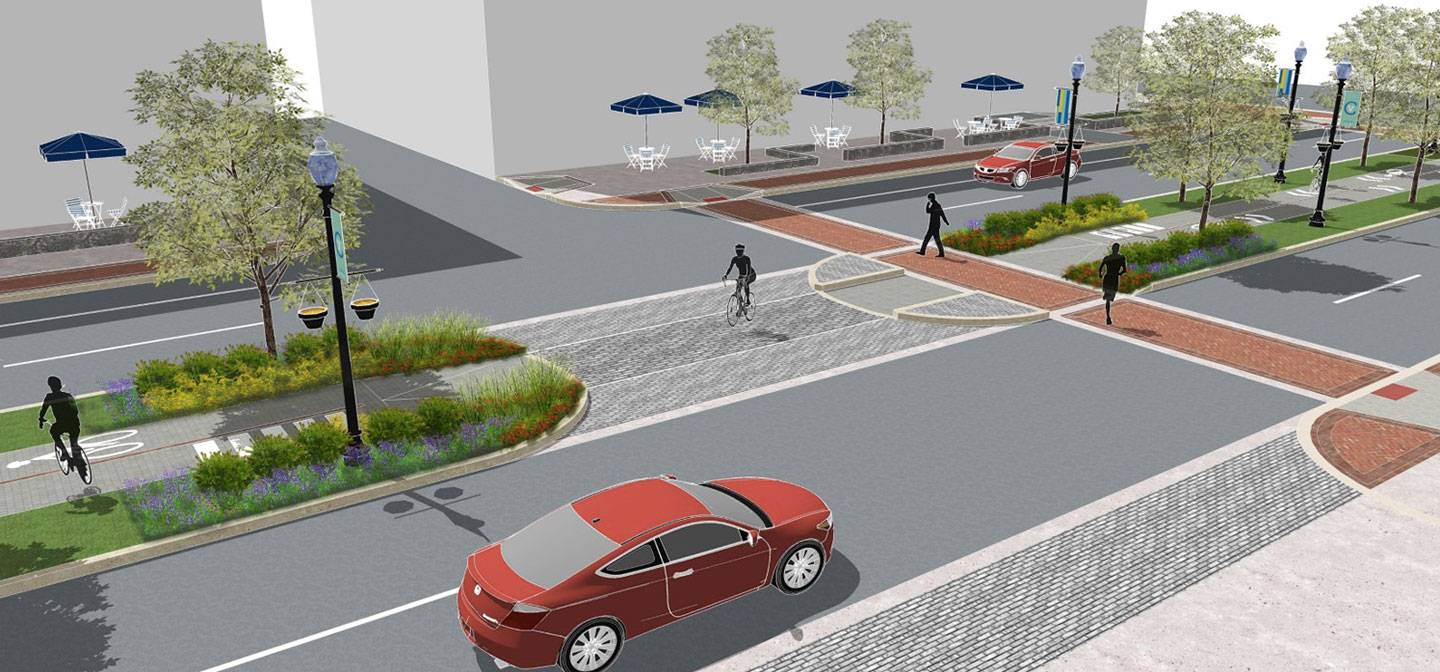 Artist's rendering of street and median